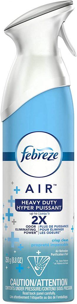 Febreeze Air Freshener Spray Heavy Duty Crisp Clean