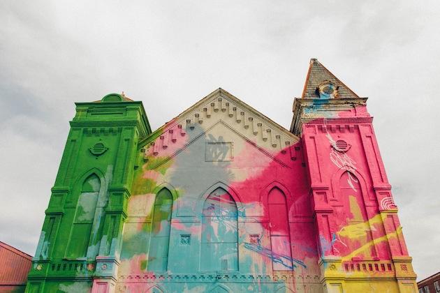 WASHINGTON D.C. GRAFFITI COVERED CHURCH BY HENSE