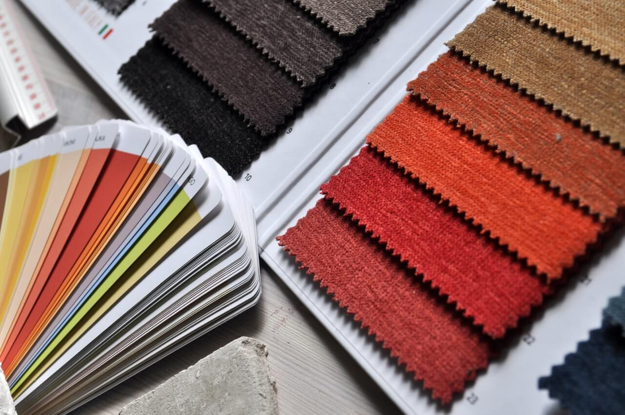fabric and paint color swatches