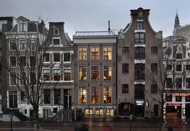 Concrete 6 story building in Amsterdam