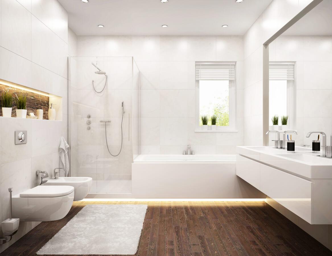 Modern design bathroom white