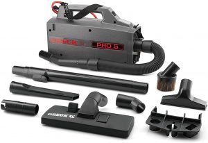 ORECK COMMERCIAL XL Pro 5 Super Compact Canister Bagged Vacuum Cleaner with Attachments