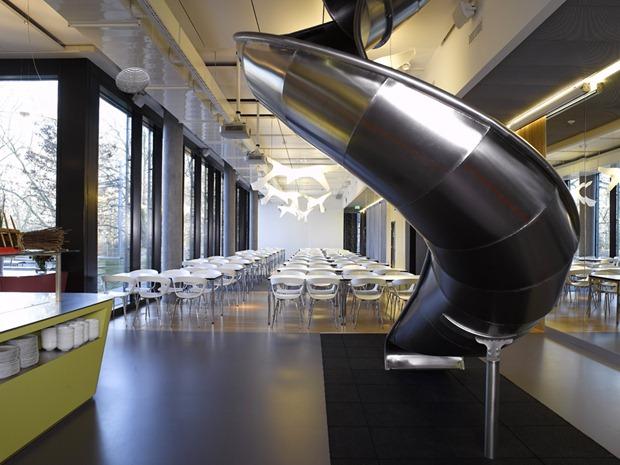 Slide in Google headquarters
