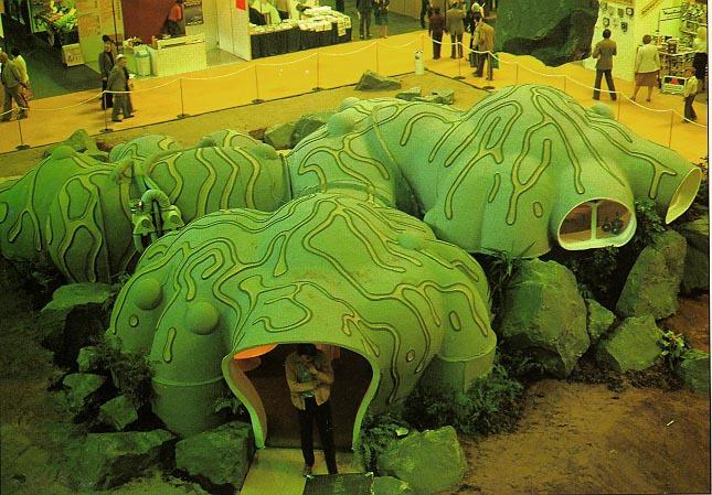 Roger Deans Organic Shaped Mushroom House
