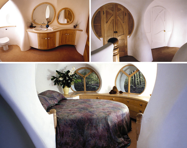 round bed in small circular room