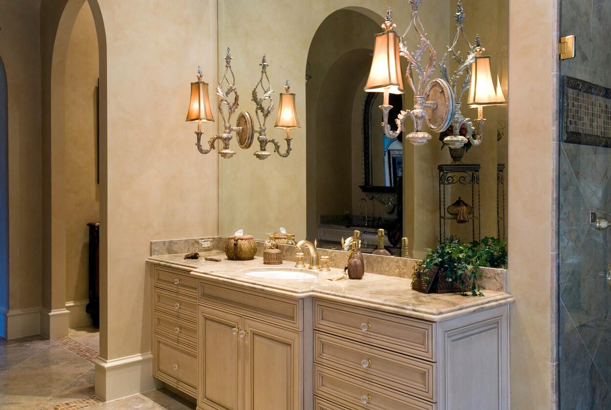Master bath sink vanity