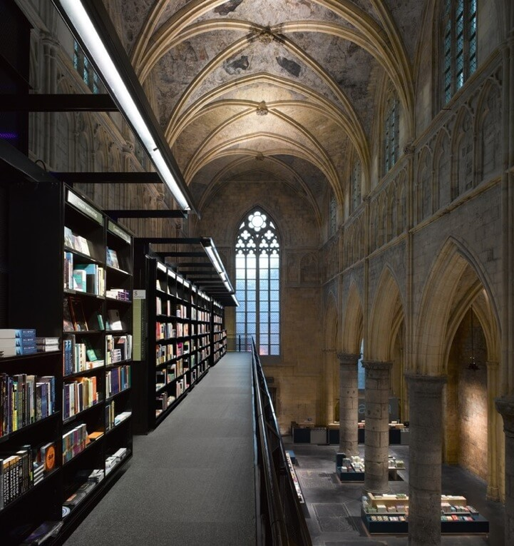 converted church in holland that is a library