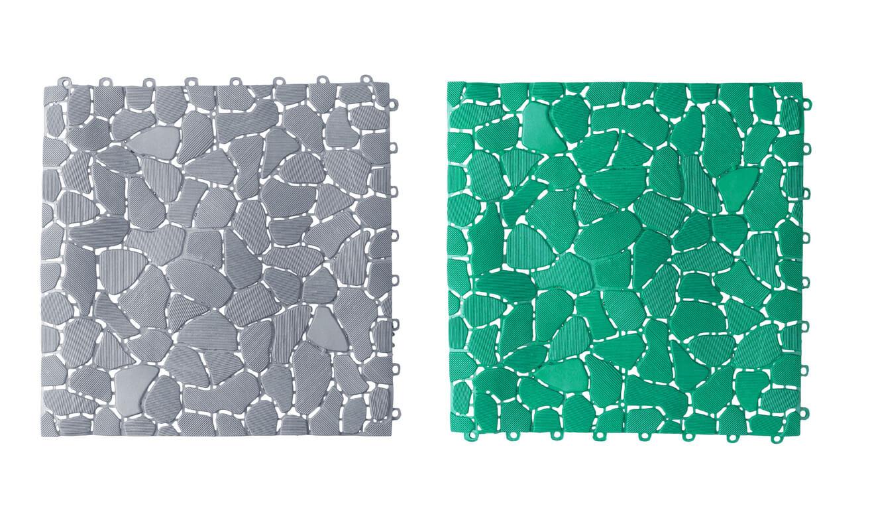 Anti slip plastic tiles for bathroom or wet area