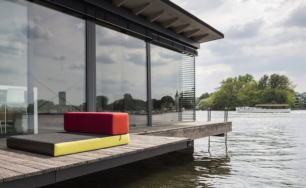 Houseboat veranda